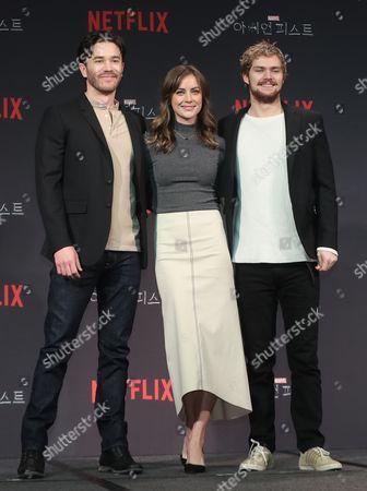 Finn Jones, Jessica Stroup and Tom Pelphrey