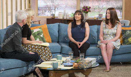Phillip Schofield and Holly Willoughby with Nilufer Atik and Natalie Brown
