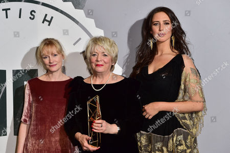 Alison Steadman with the 'Richard Harris' Award Presented by Ella Harris and Claire Skinner at the British Independent Film Awards (bifa) at Old Billingsgate London On the 4th December 2016