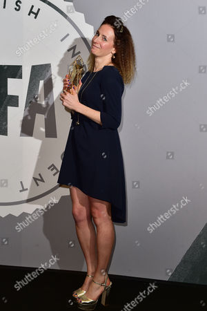 Rachel Tunnard with Her Award For Debut Screenwriter at the British Independent Film Awards (bifa) at Old Billingsgate London On the 4th December 2016