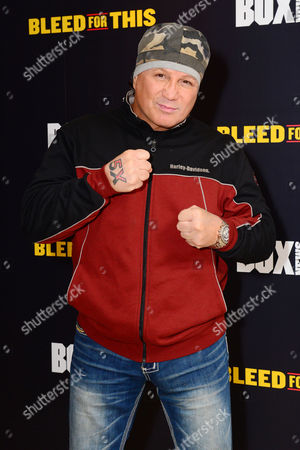Stock Photo of London England 28th November 2016: Vinny Paz at the 'Bleed For This' Screening at the Courthouse Hotel London England On the 28th November 2016