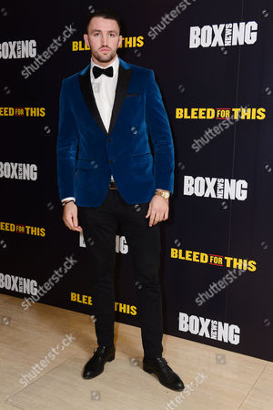 Stock Picture of London England 28th November 2016: Hughie Lewis Fury at the 'Bleed For This' Screening at the Courthouse Hotel London England On the 28th November 2016