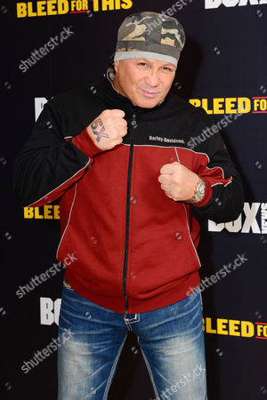 London England 28th November 2016: Vinny Paz at the 'Bleed For This' Screening at the Courthouse Hotel London England On the 28th November 2016