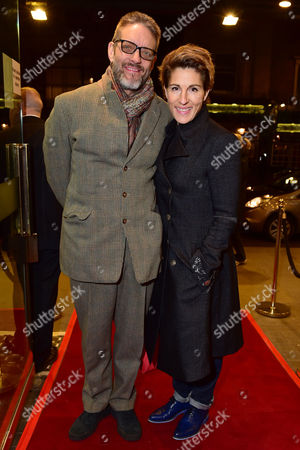 Stock Image of London England 1st December 2016: Tamsin Greig with Her Husband Richard Leaf Arrive For the Press Night of 'Buried Child' at Trafalgar Studios London England On the 1st December 2016