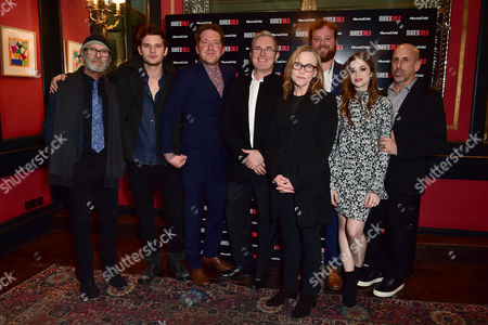 London England 1st December 2016: Ed Harris Jeremy Irvine Barnaby Kay Jack Fortune Amy Madigan Gary Shelford Director Scott Elliot and Charlotte Hope Arrive For the Press Night Afterparty For 'Buried Child' at L'escargot London England On the 1st December 2016