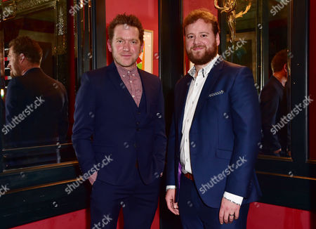 London England 1st December 2016: Barnaby Kay and Gary Shelford Arrive For the Press Night Afterparty For 'Buried Child' at L'escargot London England On the 1st December 2016