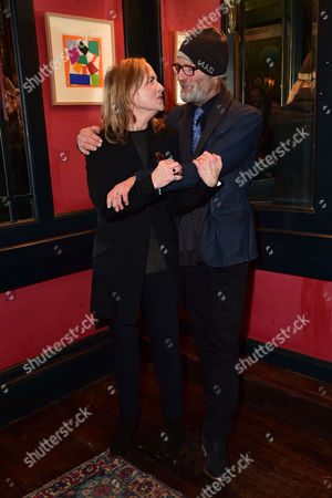 Amy Madigan and Ed Harris Arrive For the Press Night Afterparty For 'Buried Child' at L'escargot London England On the 1st December 2016