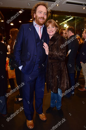 London England 1st December 2016: Adam Speers and Samantha Bond Arrive For the Press Night of 'Buried Child' at Trafalgar Studios London England On the 1st December 2016