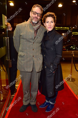 London England 1st December 2016: Tamsin Greig with Her Husband Richard Leaf Arrive For the Press Night of 'Buried Child' at Trafalgar Studios London England On the 1st December 2016