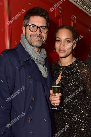 Angela Griffin with Her Husband Jason Milligan at the Cinderella Opening Night at the London Palladium in London Uk On the 14th December 2016