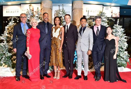 David Frankel Helen Mirren Will Smith Naomie Harris Edward Norton and Jacob Latimore at the Collateral Beauty - European Premiere at Vue Leicester Square in London Uk 15th December 2016