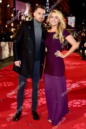 Aaron Ramsey and Colleen Ramsey at the Collateral Beauty - European Premiere at Vue Leicester Square in London Uk 15th December 2016