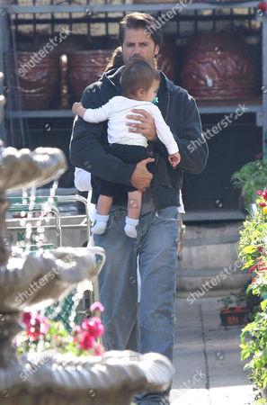 David Charvet and son Shaya Braven
