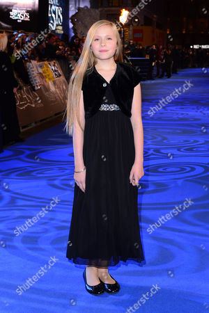 London England 15th November 2016: Faith Wood-blagrove at the 'Fantastic Beasts and where to Find Them' - European Premiere at the Cineworld Imax and Odeon Leicester Square London England On the 15th November 2016