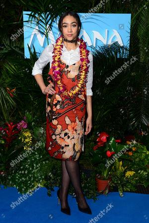 London England 20th November 2016: Jade Alleyne at the Gala Screening of 'Moana' at Bafta London England On the 20th November 2016