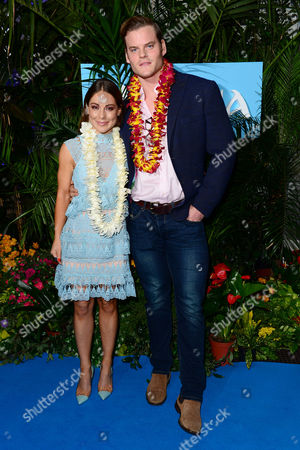 London England 20th November 2016: Louise Thompson with Her Boyfriend Ryan William Libbey at the Gala Screening of 'Moana' at Bafta London England On the 20th November 2016