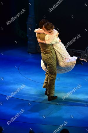 London England 17th November 2016: Charlie Stemp and Devon-elise Johnson at the Curtain Call During the 'Half A Sixpence' Press Night at the Noel Coward Theatre London England On the 17th November 2016