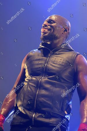 Stock Image of French rap singer Kery James (his name is Alix Mathurin) performs live at Olympia