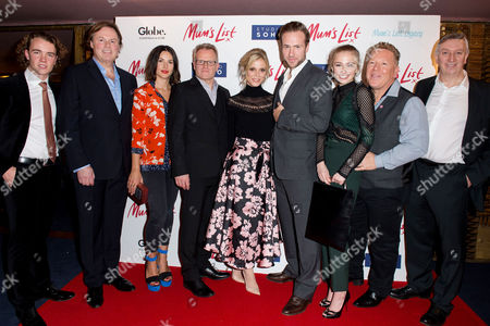 Stock Photo of London England 23rd November 2016: Ross Mccormack Amelia Warner Niall Johnson Emilia Fox Rafe Spall Sophie Simnett and St John Greene at the Mum's List Premiere at the Curzon Mayfair in London On the 23rd November 2016