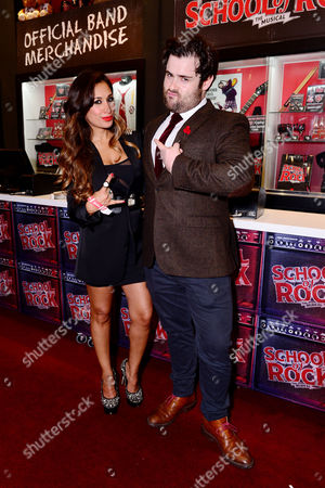 London England 14th November 2016: Preeya Kalidas and David Fynn at the School of Rock Press Night at New London Theatre in London On the 14th November 2016