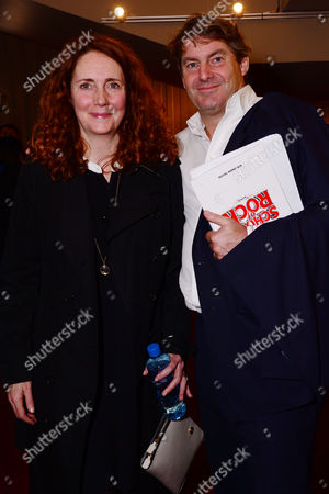 London England 14th November 2016: Rebekah Wade with Her Husband Charlie Brooks at the School of Rock Press Night at New London Theatre in London On the 14th November 2016