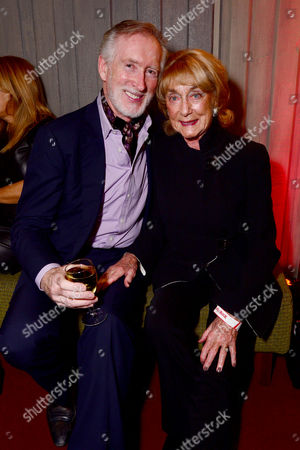 London England 14th November 2016: Dame Gillian Lynne with Her Husband Peter Land at the School of Rock Press Night at New London Theatre in London On the 14th November 2016