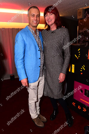London England 14th November 2016: Michael Le Poer Trench and Janet Street Porter at the School of Rock Press Night at New London Theatre in London On the 14th November 2016