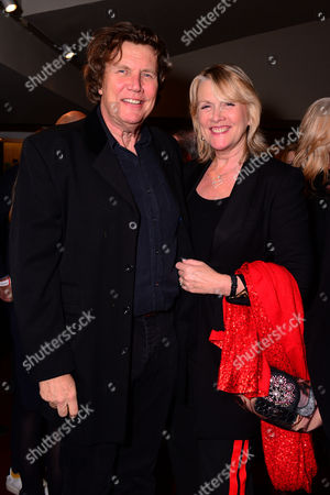 London England 14th November 2016: Theo Fennell with His Wife Louise Fennell at the School of Rock Press Night at New London Theatre in London On the 14th November 2016