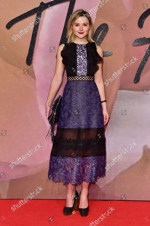 London 5th December Amber Atherton at the Fashion Awards 2016 at the Royal Albert Hall London On the 5th December 2016