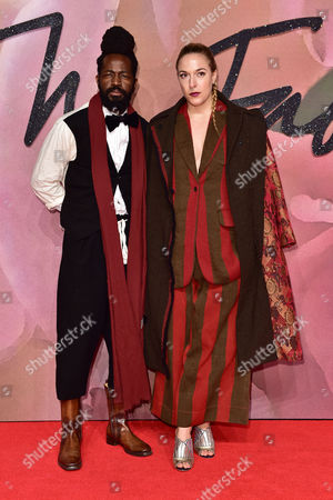 London 5th December Roy Luwolt and Mary Alice Malone at the Fashion Awards 2016 at the Royal Albert Hall London On the 5th December 2016