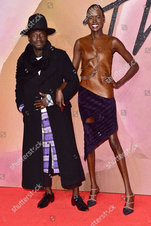 London 5th December Ajak Deng at the Fashion Awards 2016 at the Royal Albert Hall London On the 5th December 2016