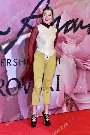 London 5th December Isamaya Ffrench at the Fashion Awards 2016 at the Royal Albert Hall London On the 5th December 2016