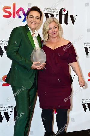 Alison Owen Presents Carolina Schmidtholstein with the Craft Performance Award at the Women in Film & Television Awards at London Hilton Park Lane London England On the 2nd December 2016