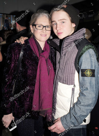 Birgit Cunningham and Son Jack Nuttall Attending the Opening Party of the Joshua Kane Flagship Store in London Uk 21st December 2016