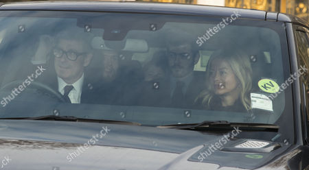 Tim Taylor and His Wife Lady Helen Taylor(windsor) Arrives at the Queen's Christmas Lunch at Buckingham Palace London