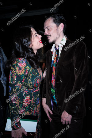 London Uk 23rd November 2016: Daniella Helayel with Matthew Williamson at the Animal Ball Presented by the Elephant Family at Victoria House Bloomsbury