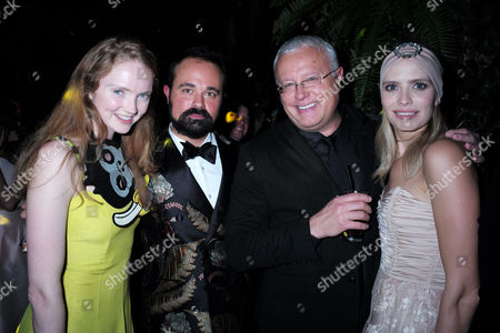 London Uk 23rd November 2016: Lily Cole Evgeny Lebedev and Alexander Lebedev at the Animal Ball Presented by the Elephant Family at Victoria House Bloomsbury