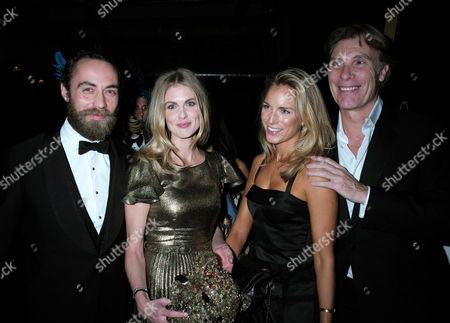 London United Kingdom 23 November 2016: James Middleton and Donna Air with Damian Aspinall and His Wife Victoria Fisher at the Animal Ball at Victoria House Bloomsbury London