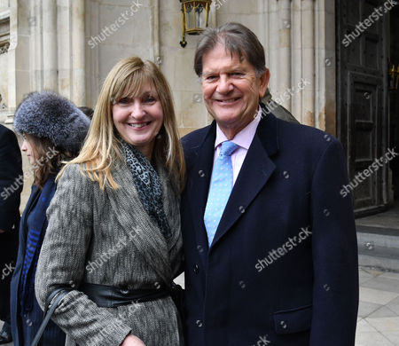 London Uk 24th November 2016: Sir John Madejski and His Daughter at A Service of Thanksgiving to Celebrate 60 Years of the Duke of Edinburgh's Award at Westminster Abbey