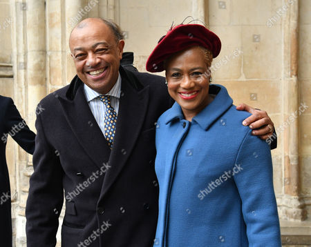 London Uk 24th November 2016: Paul Boateng and His Wife Janet at A Service of Thanksgiving to Celebrate 60 Years of the Duke of Edinburgh's Award at Westminster Abbey