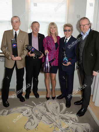 Francis Rossi, Nick Mason, Nettie Mason, Roger Daltrey and Alistair Morrison