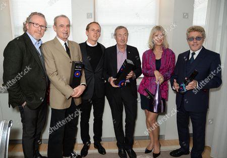 Alistair Morrison, Francis Rossi, Jerome Jacober, Nick Mason, Nettie Mason and Roger Daltrey