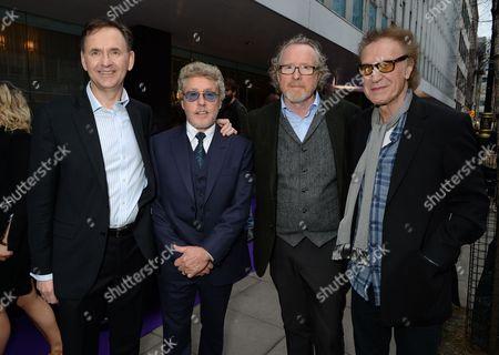 James Crichton, Roger Daltrey, Alistair Morrison and sir Ray Davies