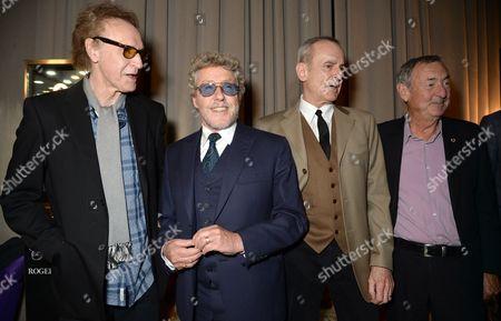 Sir Ray Davies, Roger Daltrey, Francis Rossi and Nick Mason
