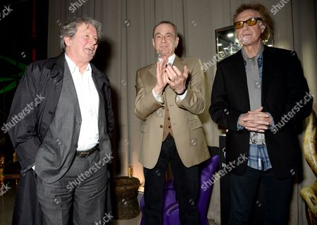 Mike McKinnery, Francis Rossi and Sir Ray Davies