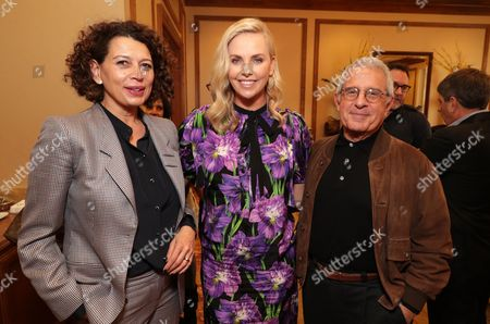 Donna Langley, Charlize Theron and Ronald Meyer