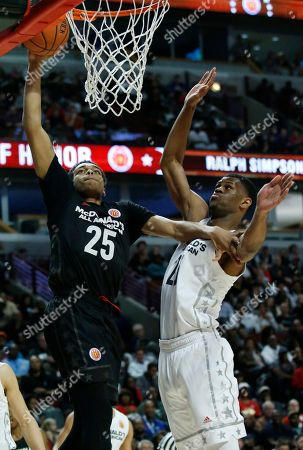 Lonnie Walker IV, Billy Preston Big East's Lonnie Walker IV, left, drives to the basket against Big West's Billy Preston during the second half of the McDonald's All- American boys high school basketball game in Chicago, . Big West won 109-107