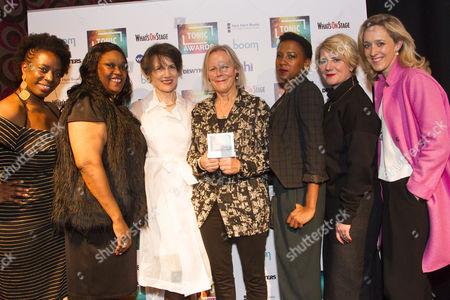 Tanya Moodie, Jennifer Joseph, Harriet Walter, Phyllida Lloyd, Jade Anouka, Jackie Clune and Kate Pakenham