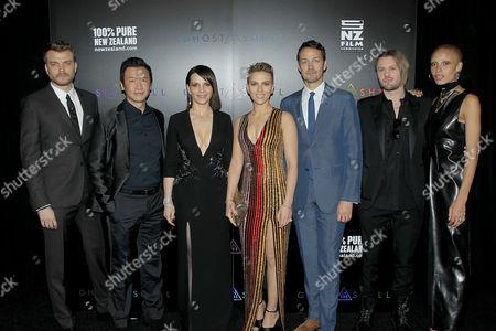 Pilou Asbaek, Chin Han, Juliette Binoche, Scarlett Johansson, Rupert Sanders (Director), Michael Pitt, Adwoa Aboah (Cast)
