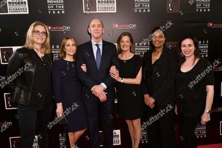 Stock Picture of Emma Watts, Stacey Snider, Chris Aronson, Elizabeth Gabler, Vanessa Morrison and Pam Levine